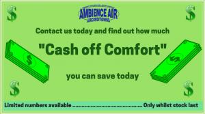 Cash off Comfort