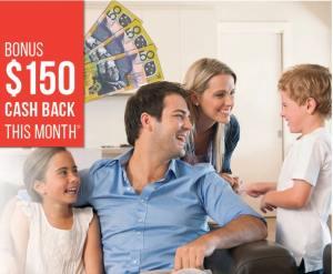 $150 Cashback promotion flyer
