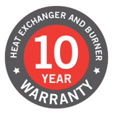 10 year heat exchanger warranty icon
